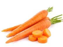 Chewing raw carrots helps to keep a dog's teeth healthy.